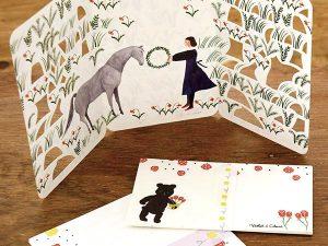 バレンタインのメッセージは京都メイドのカードで