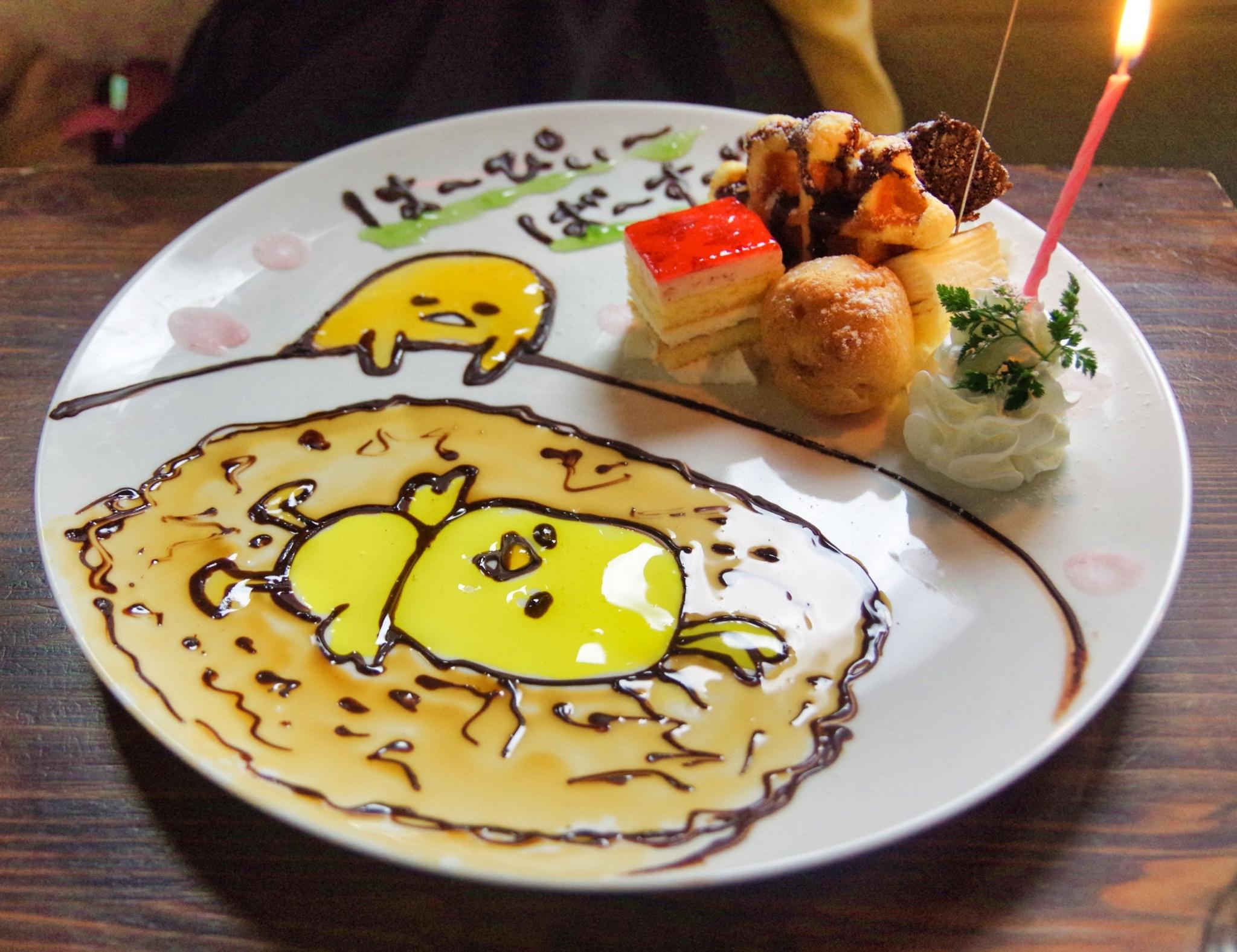 【渋谷カフェ】 世界で1枚のオリジナルメッセージプレートに感激!