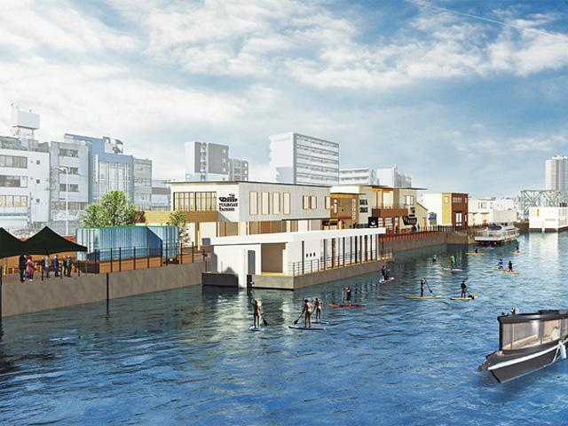 「TUGBOAT_TAISHO(タグボート大正)」新しい水辺の憩いの場に